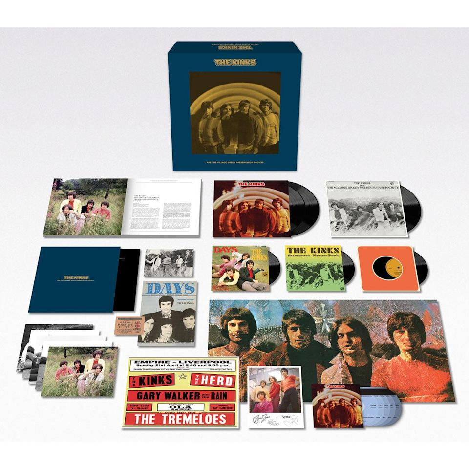 <p>Here's more gifty goodness from the magical year that was 1968. This 11-disc, 174-track, 50th-anniversary reissue of the Britpop forefathers' landmark, cult-classic concept album contains, among many other collectibles a double-vinyl LP with stereo and mono versions, previously unreleased home demos, and three replica 7-inch singles reproduced in picture sleeves. </p>