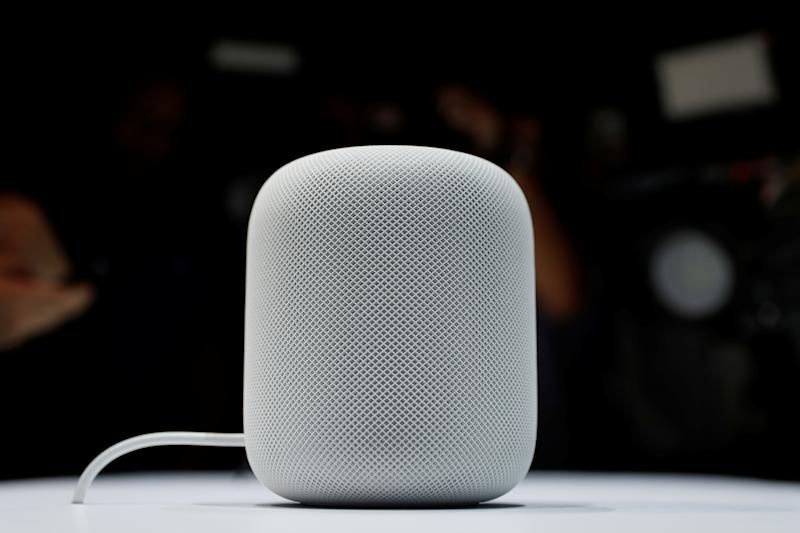 A prototype Apple HomePod is seen during the annual Apple Worldwide Developer Conference (WWDC) in San Jose, California, U.S. June 5, 2017. REUTERS/Stephen Lam