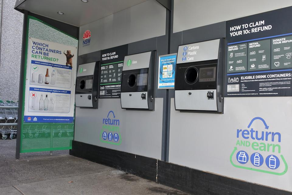 Return and Earn vending machine. Source: Getty Images