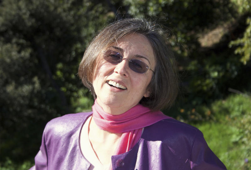 This Jan. 15, 2006 photo provided by George Lewis shows former NBC news reporter and Latina journalism pioneer Cecilia Alvear, who was a founding member of the National Association of Hispanic Journalists, at home in Santa Monica, Calif. Alvear died on Friday, April 21, 2017. She was 77. (George Lewis via AP)