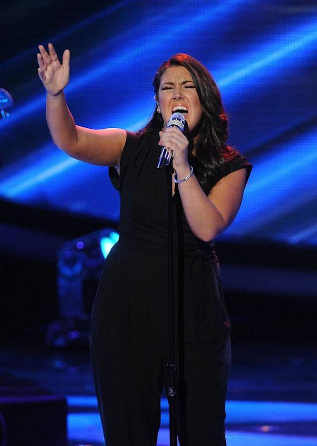 "Kree Harrison performs ""A Whiter Shade of Pale"" on the Wednesday, April 24 episode of ""American Idol."""