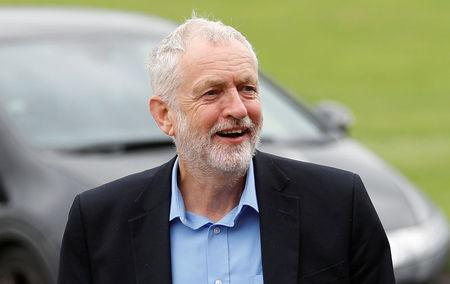 FILE PHOTO - Britain's opposition Labour Party leader Jeremy Corbyn arrives at BAWA Sports and Leisure Centre in Bristol, Britain August 11, 2017. REUTERS/Peter Nicholls