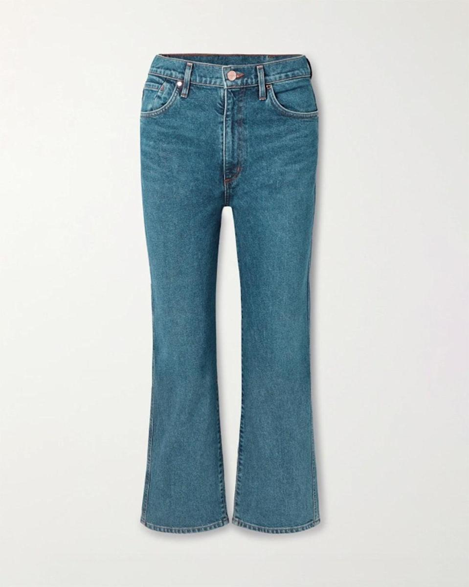 """""""I used to never wear jeans until I found Goldsign. These are ever so flattering and somehow even more comfortable. Every time I wear them, everyone asks me which jeans I have on, so I figure it's time I spill."""" - <em>Samantha Gasmer, Assistant Fashion Editor</em> $325, Net-a-Porter. <a href=""""https://www.net-a-porter.com/en-us/shop/product/goldsign/clothing/straight-leg/the-cropped-a-high-rise-straight-leg-jeans/26191867424729389"""" rel=""""nofollow noopener"""" target=""""_blank"""" data-ylk=""""slk:Get it now!"""" class=""""link rapid-noclick-resp"""">Get it now!</a>"""