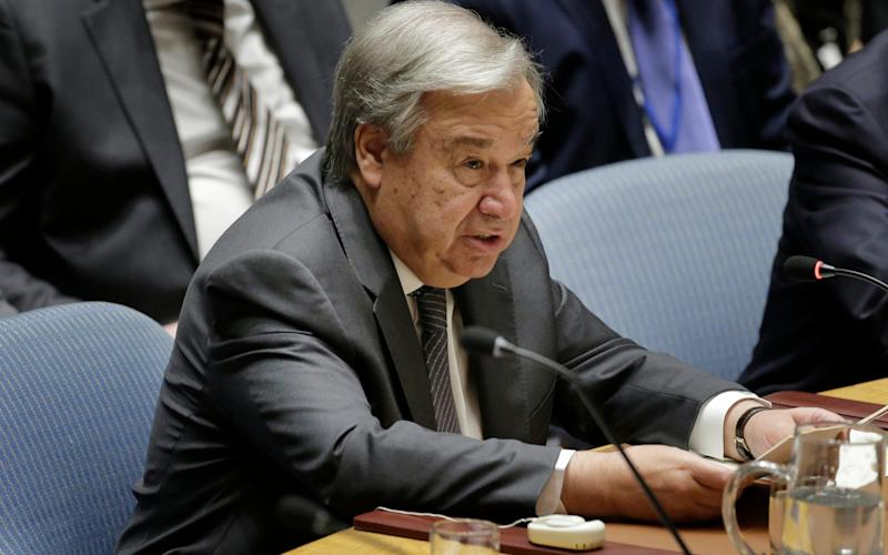 Antonio Guterres warned that the UN will run out of cash next month unless member states pay their fees - AP