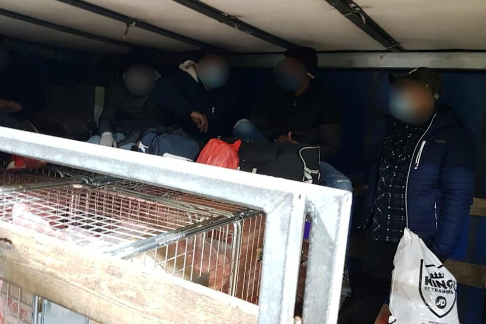 Nine migrants were discovered in the rear of people smuggler Sebastian Gabriel Podar's HGV, which was booked to go onto a ferry to France (National Crime Agency )