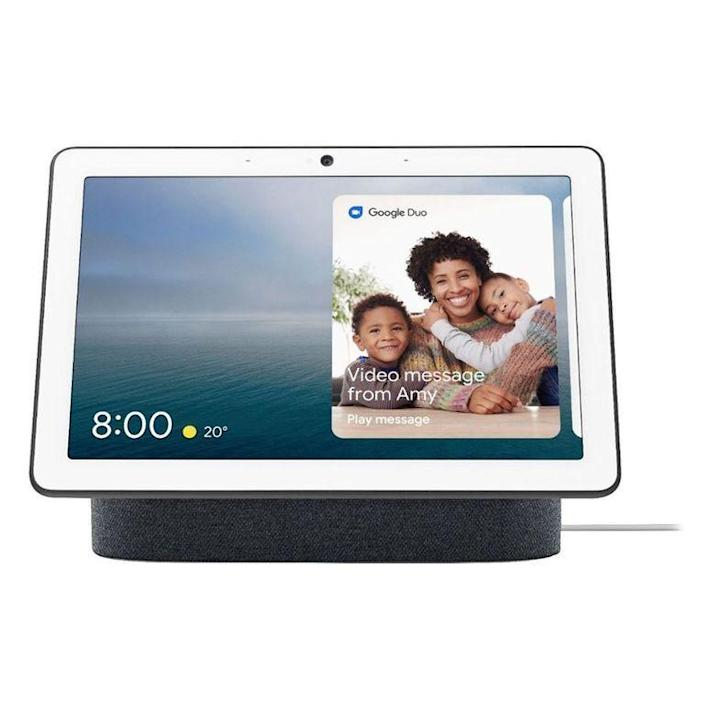 """<p><strong>Google</strong></p><p>bestbuy.com</p><p><strong>$229.99</strong></p><p><a href=""""https://go.redirectingat.com?id=74968X1596630&url=https%3A%2F%2Fwww.bestbuy.com%2Fsite%2Fnest-hub-max-smart-display-with-google-assistant-charcoal%2F6348562.p%3FskuId%3D6348562&sref=https%3A%2F%2Fwww.menshealth.com%2Ftechnology-gear%2Fg19521968%2Fcool-gifts-for-dad%2F"""" rel=""""nofollow noopener"""" target=""""_blank"""" data-ylk=""""slk:BUY IT HERE"""" class=""""link rapid-noclick-resp"""">BUY IT HERE</a></p><p>Stay connected with loved ones and control your devices all in one useful tech smart gadget. Play videos or live TV, make video calls, and even display your favorite photos with this cool device you'll never knew you needed. </p>"""