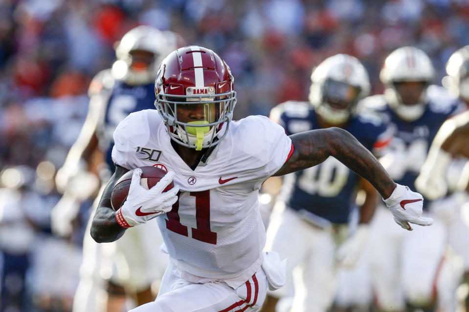 Alabama wide receiver Henry Ruggs III (11) was picked by the Las Vegas Raiders. (AP Photo/Butch Dill)