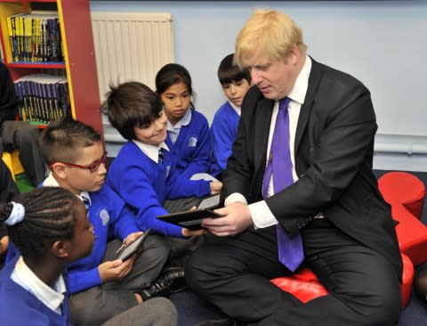 Mayor of London, Boris Johnson, visits St Mary's Catholic Primary School in support of the Get Readi ...