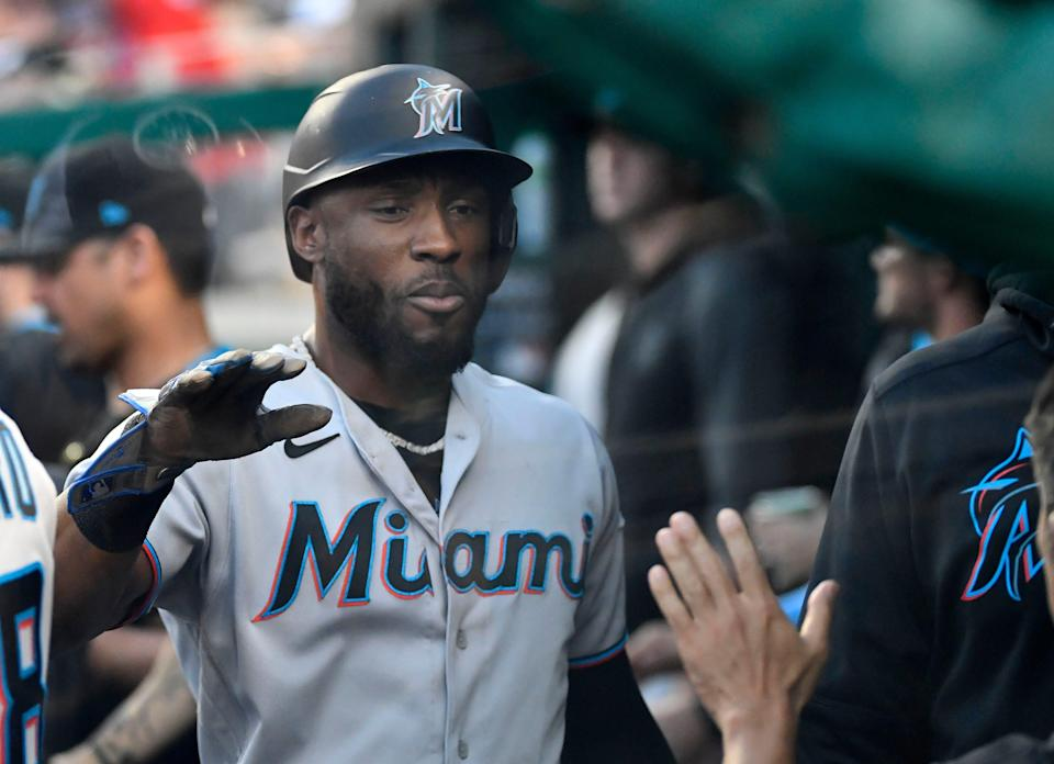 Starling Marte joined the Marlins in 2020.