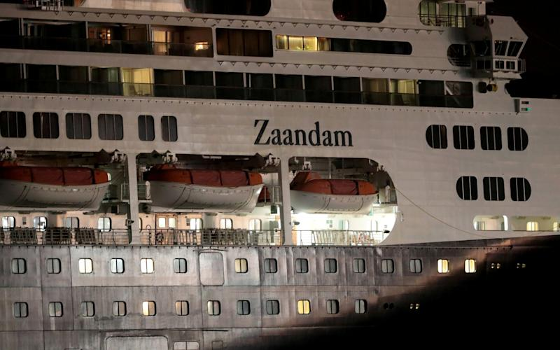 Cruise ship MS Zaandam, on which passengers have died - Erick Marciscano/REUTERS