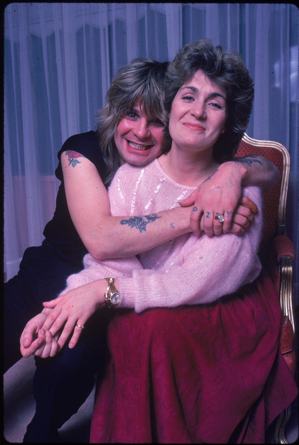 Ozzy and Sharon Osbourne pictured in 1984. (Photo by David McGough/The LIFE Picture Collection via Getty Images)