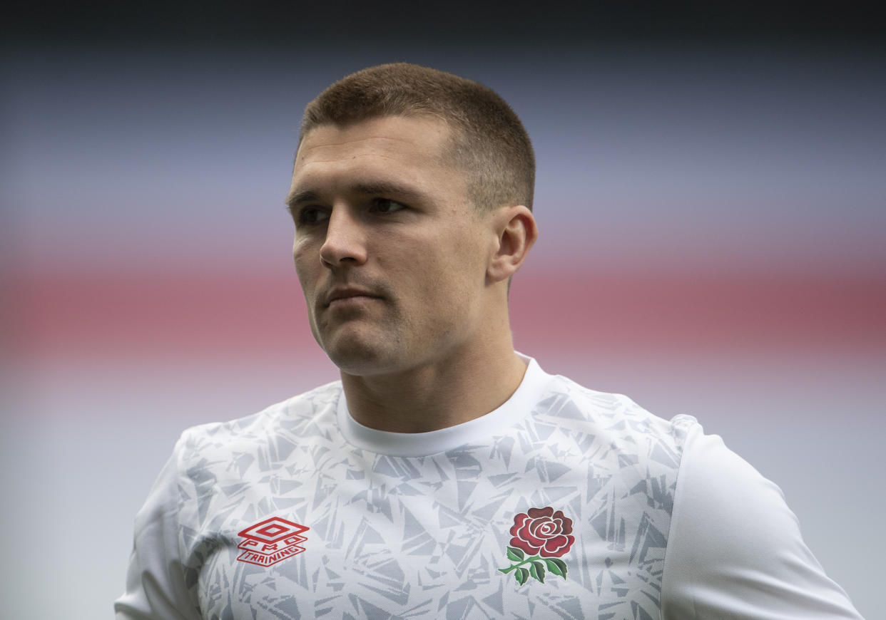 Henry Slade of England prior to the Guinness Six Nations match between England and France at Twickenham Stadium on March 13, 2021 in London.