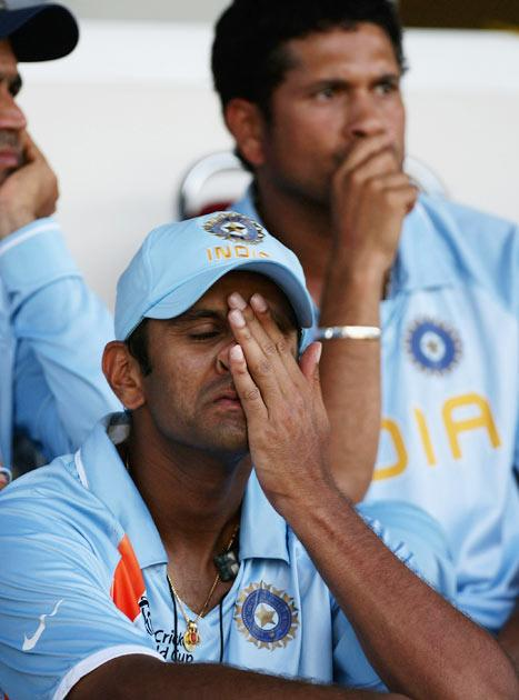 He was appointed as the captain of the Indian team in October 2005 and resigned from the post in September 2007, after the team's exit in the group stages of the 2007 World Cup.