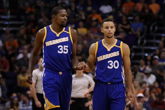 Durant couldn't pass up the chance to pursue an NBA title with Stephen Curry. (Getty Images)