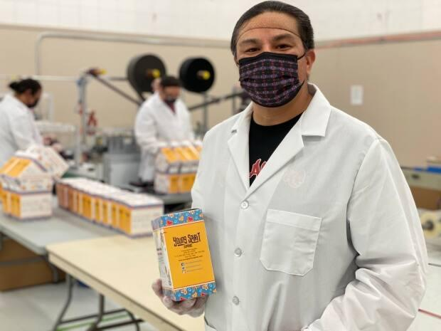 Jacob Faithful says the company can make about 80 masks a minute.  (François Joly/Radio-Canada - image credit)