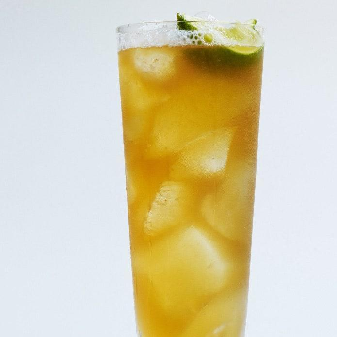 """Lime juice, ginger beer, and a DIY spiced rum make this Dark and Stormy an upgraded classic. <a href=""""https://www.epicurious.com/recipes/food/views/spiced-dark-and-stormy-51205110?mbid=synd_yahoo_rss"""" rel=""""nofollow noopener"""" target=""""_blank"""" data-ylk=""""slk:See recipe."""" class=""""link rapid-noclick-resp"""">See recipe.</a>"""