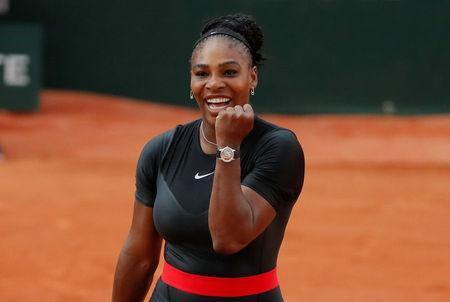 FILE PHOTO: Tennis - French Open - Roland Garros, Paris, France - June 2, 2018 Serena Williams of the U.S. celebrates winning her third round match against Germany's Julia Goerges REUTERS/Gonzalo Fuentes