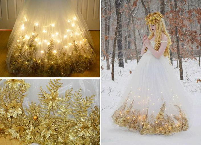 "<p>This Christmas dress LIGHTS UP! (Photo: <a href=""http://angelaclayton.crevado.com/"" rel=""nofollow noopener"" target=""_blank"" data-ylk=""slk:Angela Clayton"" class=""link rapid-noclick-resp"">Angela Clayton</a>)<br></p>"