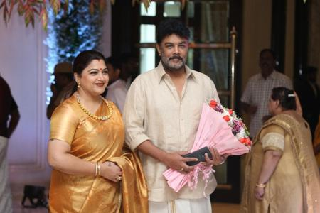 khushboo sundar at soundarya rajinikanth Vishagan Vanangamudi's wedding