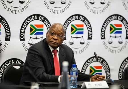 Former South African President Jacob Zuma appears before the Commission of Inquiry into State Capture in Johannesburg