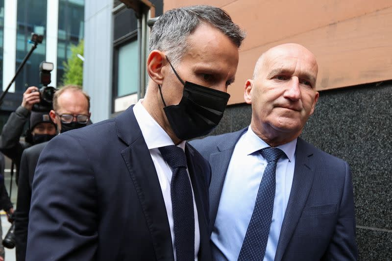 Former Manchester United footballer Giggs arrives at court in Manchester