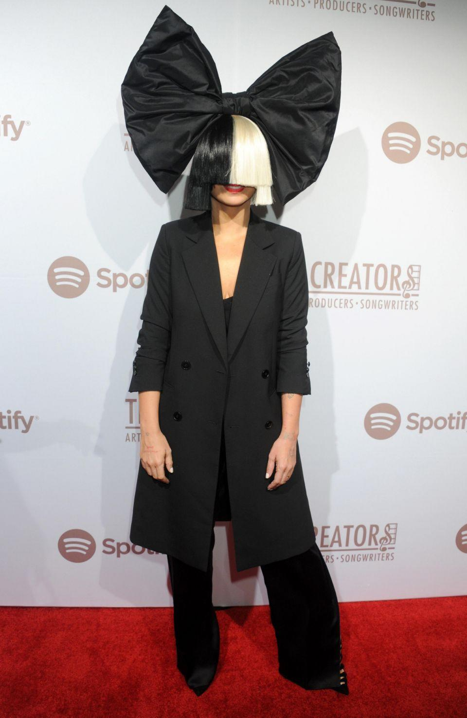 She never shows her face but Sia (here at a red carpet event in February 2016) has leaked her own nude photo. Source: Getty