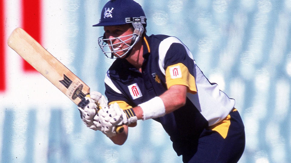 Jason Bakker, pictured here in action for Victoria in 1999.