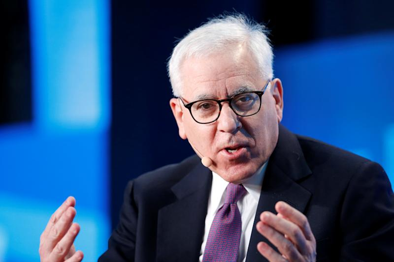David Rubenstein, Co-Founder and Co-CEO of the Carlyle Group, speaks at the Milken Institute Global Conference in Beverly Hills