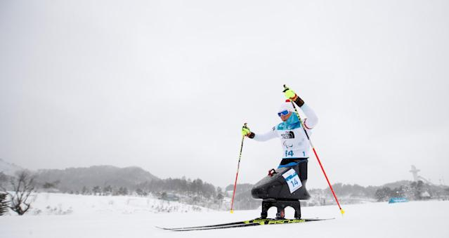 Biathlon - Pyeongchang 2018 Winter Paralympics - Women's 12.5km - Sitting - Alpensia Biathlon Centre - Pyeongchang, South Korea - March 16, 2018 - Andrea Eskau of Germany competes. REUTERS/Carl Recine