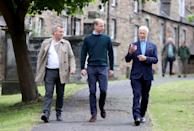 <p>Talking to CEO Jonny Kinross and Founder and Greyfriars Kirk minister, Richard Frazer at the Grassmarket Community Project on May 23, 2021 in Edinburgh, Scotland.</p>