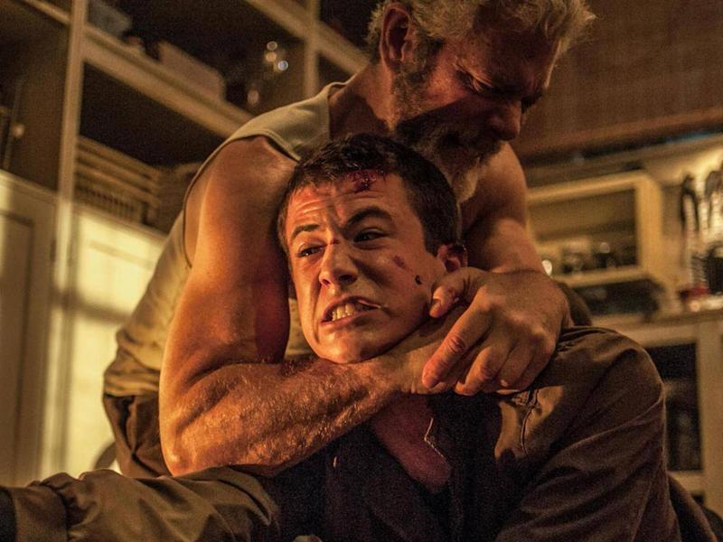 Stephen Lang and Dylan Minnette in Don't Breathe (Moviestore/Rex)