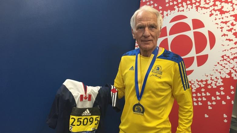 'Old man, you'd better slow down a little': 80-year-old Calgarian places 2nd in Boston Marathon age group