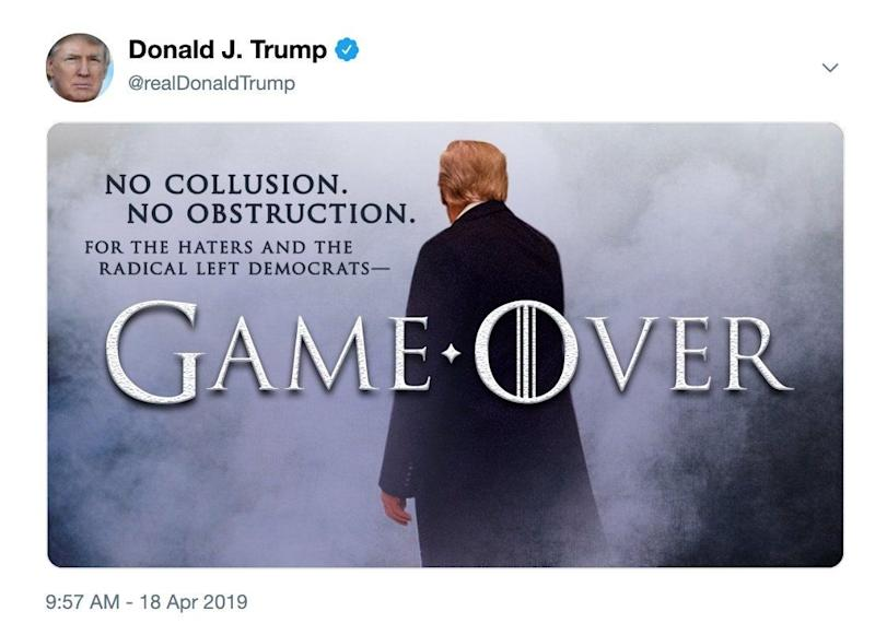 President Trump turns to 'Game of Thrones' again sparking HBO response