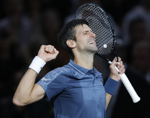 Djokovic defeats Federer in Paris Masters thriller