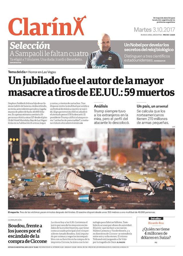 """<p>""""Clarin,"""" published in Buenos Aires, Argentina. (newseum.org) </p>"""