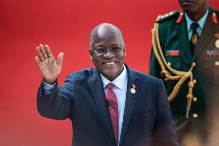 Coronavirus criticism: Magufuli, pictured in Pretoria last May at the inauguration of South African President Cyril Ramaphosa (AFP Photo/Michele Spatari)