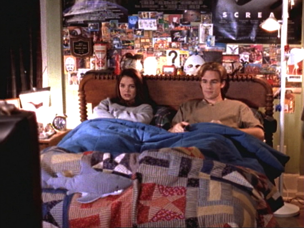 <p>Dawson's room—shockingly to some more rule-restricted young watchers—was the hangout spot of Capeside on this beloved teen drama. Watching Joey Potter climb in through the window to Dawson's movie poster-clad room always meant there was good TV ahead. </p>