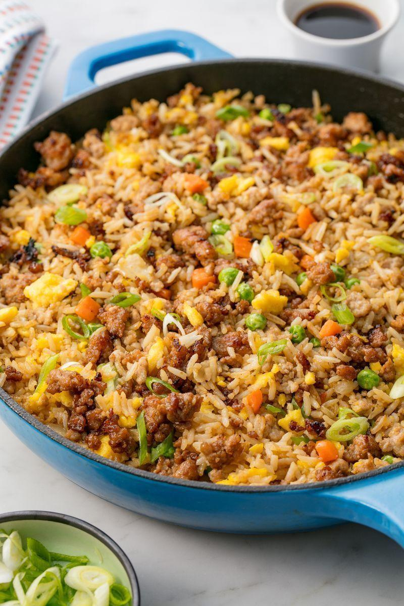 """<p>Kiss greasy takeout fried rice goodbye.</p><p>Get the <a href=""""https://www.delish.com/uk/cooking/recipes/a29185448/how-to-make-pork-fried-rice/"""" rel=""""nofollow noopener"""" target=""""_blank"""" data-ylk=""""slk:Pork Fried Rice"""" class=""""link rapid-noclick-resp"""">Pork Fried Rice</a> recipe.</p>"""