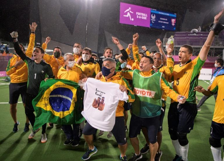 Brazil beat Argentina to win their fifth Paralympic five-a-side football title (AFP/Joel MARKLUND)