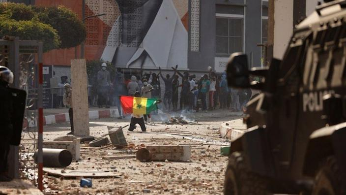 The unrest is rare in the West African country