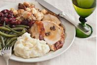 """<p>When it comes to his Thanksgiving menu, Joe Randall—the coauthor of <a href=""""http://www.amazon.com/Taste-Heritage-New-African-American-Cuisine/dp/0764567101?tag=syn-yahoo-20&ascsubtag=%5Bartid%7C10050.g.637%5Bsrc%7Cyahoo-us"""" rel=""""nofollow noopener"""" target=""""_blank"""" data-ylk=""""slk:A Taste of Heritage: The New African-American Cuisine"""" class=""""link rapid-noclick-resp""""><em>A Taste of Heritage: The New African-American Cuisine</em></a> in Savannah—doesn't mess with tradition.</p><p><strong>Main Course:</strong></p><p><a href=""""https://www.countryliving.com/food-drinks/recipes/a3492/butter-roasted-turkey-giblet-pan-gravy-recipe-clv1110/"""" rel=""""nofollow noopener"""" target=""""_blank"""" data-ylk=""""slk:Butter-Roasted Turkey with Giblet Pan Gravy"""" class=""""link rapid-noclick-resp"""">Butter-Roasted Turkey with Giblet Pan Gravy</a></p><p><strong>Side Dishes:</strong></p><p><a href=""""https://www.countryliving.com/food-drinks/recipes/a3494/cornbread-dressing-sage-pork-sausage-recipe-clv1110/"""" rel=""""nofollow noopener"""" target=""""_blank"""" data-ylk=""""slk:Cornbread Dressing with Sage and Pork Sausage"""" class=""""link rapid-noclick-resp"""">Cornbread Dressing with Sage and Pork Sausage</a></p><p><a href=""""https://www.countryliving.com/food-drinks/recipes/a3500/mom-pans-creamy-mashed-potatoes-recipe-clv1110/"""" rel=""""nofollow noopener"""" target=""""_blank"""" data-ylk=""""slk:Mom Pan's Creamy Mashed Potatoes"""" class=""""link rapid-noclick-resp"""">Mom Pan's Creamy Mashed Potatoes</a></p><p><a href=""""https://www.countryliving.com/food-drinks/recipes/a3496/sun-dried-cherry-cranberry-salsa-recipe-clv1110/"""" rel=""""nofollow noopener"""" target=""""_blank"""" data-ylk=""""slk:Sun-Dried Cranberry Salsa"""" class=""""link rapid-noclick-resp"""">Sun-Dried Cranberry Salsa</a></p><p><a href=""""https://www.countryliving.com/food-drinks/recipes/a3502/southern-style-green-beans-recipe-clv1110/"""" rel=""""nofollow noopener"""" target=""""_blank"""" data-ylk=""""slk:Southern-Style Green Beans"""" class=""""link rapid-noclick-resp"""">Southern-Style Green Beans</a> </p>"""