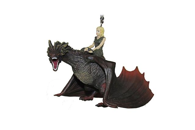 "<p>Bend the knee! ""You are in the presence of Daenerys Stormborn, of House Targaryen. Queen of the Andals and the First Men, Khaleesi of the Great Grass Sea, Breaker of Chains, and Mother of Dragons."" <strong><a href=""http://www.thinkgeek.com/product/khgq/"" rel=""nofollow noopener"" target=""_blank"" data-ylk=""slk:Buy here"" class=""link rapid-noclick-resp"">Buy here</a></strong> </p>"