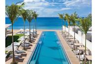 """<p><b>St. George's Grenada</b></p> <p>Yes, it begins at that pool. Stretching from the breezy, serenely modernist lobby past pale cabanas and lounges 330 turquoise feet to the cerulean waters of Grand Anse Beach, it's a major design moment (not to mention the longest pool in the Caribbean). This minimalist magic permeates the entirety of this newly built resort that sets 43 suites and nine beachfront and hilltop villas with clean lines and restrained neutrals into the embrace of the gently sloping hillsides at its back. What better way to let this under-the-radar West Indian gem of an island dotted with fragrant spice trees, hidden waterfalls, and pale and pristine sands play the starring role it deserves? Rates start at $800; <a href=""""https://www.silversandsgrenada.com/"""" rel=""""nofollow noopener"""" target=""""_blank"""" data-ylk=""""slk:silversandsgrenada.com"""" class=""""link rapid-noclick-resp"""">silversandsgrenada.com</a>.</p>"""
