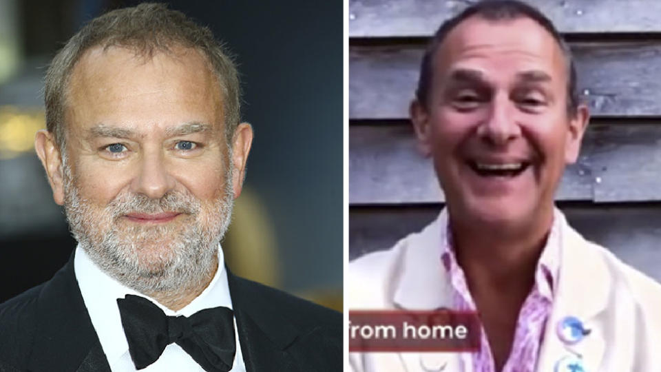 Hugh Bonneville before and after weight loss transformation in 2020 lockdown new look
