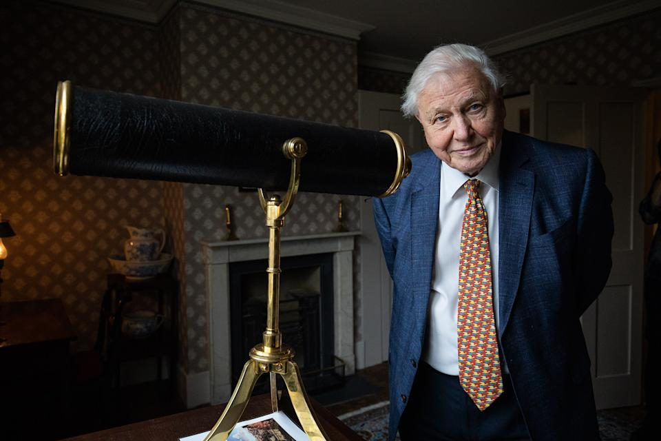 Sir David Attenborough opens the Turner and the Thames, Five paintings at the artists house in Twickenham on January 10, 2020 in London, England. (Photo by Tim P. Whitby/Getty Images)