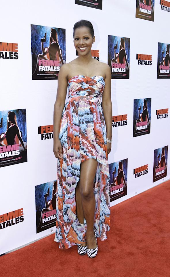 "Shani Pride attends Cinemax's New Series ""Femme Fatales"" - Cast & Crew Screening at ArcLight Hollywood on May 21, 2012 in Hollywood, California."