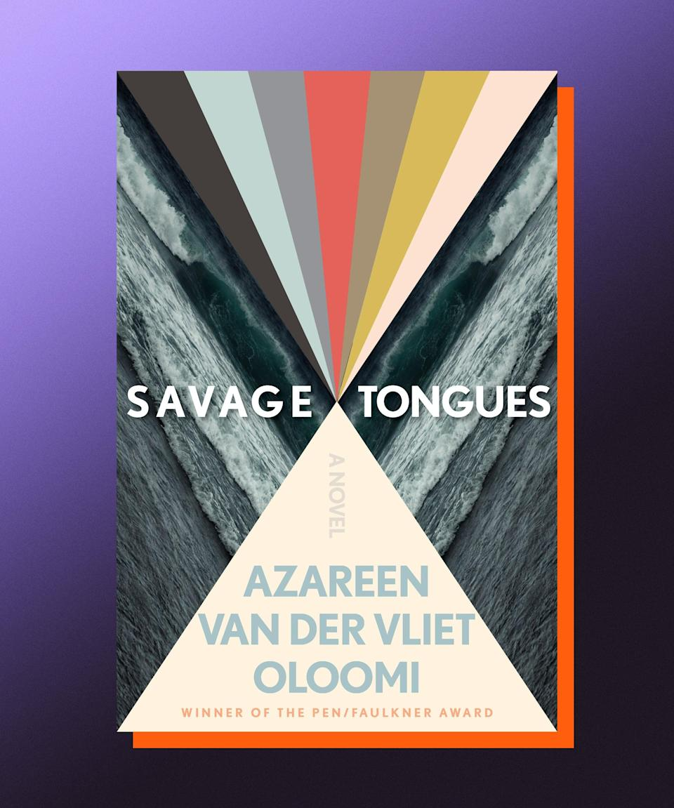 """<strong><em>Savage Tongues</em>, Azareen Van der Vliet Oloomi</strong> <strong>(</strong><a href=""""https://bookshop.org/books/savage-tongues/9780358315063"""" rel=""""nofollow noopener"""" target=""""_blank"""" data-ylk=""""slk:available August 3"""" class=""""link rapid-noclick-resp""""><strong>available August 3</strong></a><strong>)</strong><br><br>Azareen Van der Vliet Oloomi's stunning new novel is a hauntingly beautiful depiction of the way past traumas grip at our insides, threatening to tear us apart years after we've experienced them. Arezu was just a teenager when she met the 40-year-old Omar in Spain; their affair that summer has echoed throughout her life, knocking over everything with its vibrations. Two decades later, Arezu, along with her friend, Ellie, returns to the apartment where it happened, hoping to excavate some of the pain. Political as it is lyrical, <em>Savage Tongues</em> is rigorous in its exploration of the effects that violence and corruption have on our conception of ourselves."""