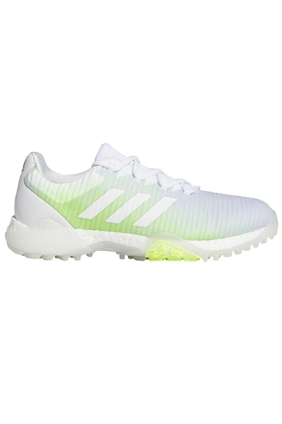 """<p><strong>adidas</strong></p><p>adidas.com</p><p><strong>$130.00</strong></p><p><a href=""""https://go.redirectingat.com?id=74968X1596630&url=https%3A%2F%2Fwww.adidas.com%2Fus%2Fcodechaos-golf-shoes%2FEE9336.html&sref=https%3A%2F%2Fwww.cosmopolitan.com%2Fstyle-beauty%2Fbeauty%2Fg33482166%2Feditor-picks-cosmo-klarna-hauliday-2020%2F"""" rel=""""nofollow noopener"""" target=""""_blank"""" data-ylk=""""slk:Shop Now"""" class=""""link rapid-noclick-resp"""">Shop Now</a></p><p>""""I've been trying to get into golf for a socially distanced new hobby, but it turns out you need…all this stuff for it? Lol. (Also, I'm terrible, but that's not the point.) Klarna + a discount on <strong>this pretty pair of <a href=""""https://www.cosmopolitan.com/style-beauty/fashion/g25720620/best-sneaker-brands/"""" rel=""""nofollow noopener"""" target=""""_blank"""" data-ylk=""""slk:shoes"""" class=""""link rapid-noclick-resp"""">shoes</a> from Adidas will make gearing up a whole lot more palatable!""""</strong>—<em>Madeleine Reeves, deputy articles director</em></p><p><strong><strong><strong>💫</strong></strong></strong><strong>PROMOTION:</strong> Save 20% on orders of $100 or more with the code <strong>KLARNAHAULIDAY</strong>. <br></p>"""