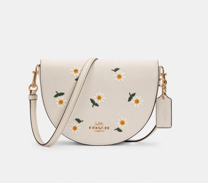 Ellen Crossbody With Daisy Embroidery. Image via Coach Outlet.