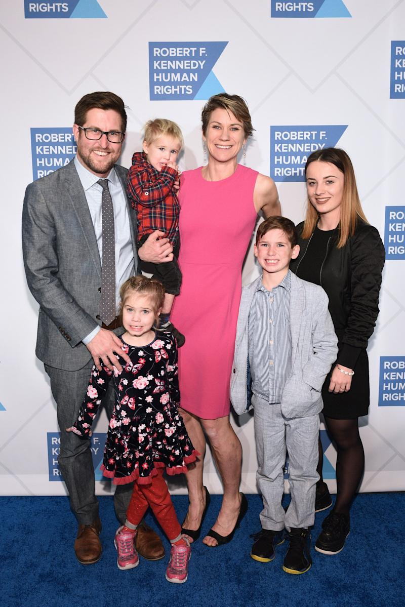 David McKean, Maeve Kennedy Townsend McKean and family at an event in New York City in December 2018. (Photo: Mike Pont/Getty Images for Robert F. Kennedy Human Rights))